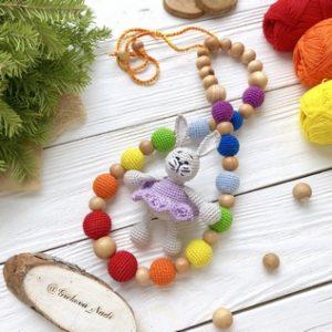Слингобусы с вязанной игрушкой
