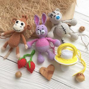 Вязаные мини игрушки